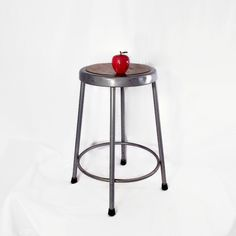 Vintage Metal Stool - Krueger Metal Products - Gray - Round - Vintage Industrial Seating - Urban Industrial Decor - 1960s - Set Available by CityBeepster on Etsy