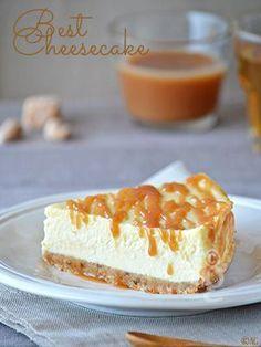 My best cheesecake! - - My best cheesecake! – For a 20 cm diameter mold: 450 gr of Greek yogurt 300 gr of cream cheese (P - Thermomix Cheesecake, Best Cheesecake, Cheesecake Caramel, Lemon Desserts, Köstliche Desserts, Delicious Desserts, Sweet Recipes, Cake Recipes, Dessert Recipes