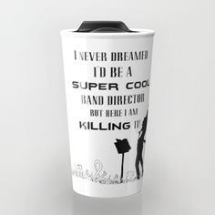 Band director mug awesome gift for a favorite music teacher. Find more products like tshirts, tech cases and covers, hoodies, comforters, cards and more.