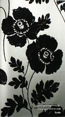 Poppycock Velvet Flocked Wallpaper in Pewter and Black from the Plush – BURKE DECOR