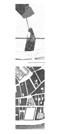 Site Plan, Axo_Edoardo Cappella, Vittorio Cassabgi, Marco Petrangeli_Unversità La Sapienza__Competition