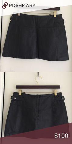 Skirt BCBG MAXAZRIA Color Black  Size 2 Leather skirt Color Black Size 2 BCBGMaxAzria Skirts Mini