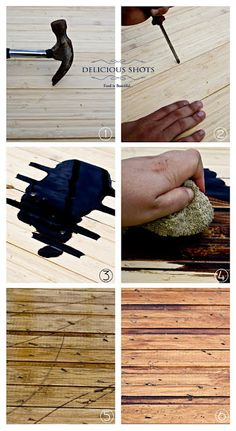 how to distress wood....