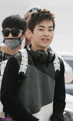 Xiumin - 140816 Incheon Airport, departing for Nanjing