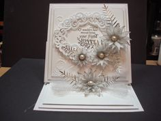 Ab Fab Designs: Anything Heartfelt Creations Cards, Wedding Cards Handmade, Ab Fab, Easel Cards, Die Cut Cards, Wedding Anniversary, Making Ideas, Cardmaking, Holiday Cards