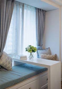 美式简约室内飘窗设计效果图_土巴兔装修效果图
