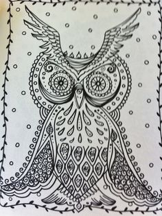 OWLS Coloring Book for you to have some fun and by ChubbyMermaid, $12.00