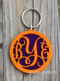 Layered Monogram Key Ring. Many great items to show off your love for THE TIGERS! at www.kellyosteen.com