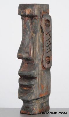 Wood Moai (Easter Island) Hand Carved Tiki by Tikizone on Etsy https://www.etsy.com/listing/229425078/wood-moai-easter-island-hand-carved-tiki