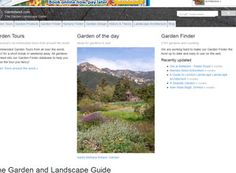 This is a neat site about gardening and landscaping with a great menu bar at the top with a plethora of things to find with it.  This site is responsive so it caters to any device which is cool