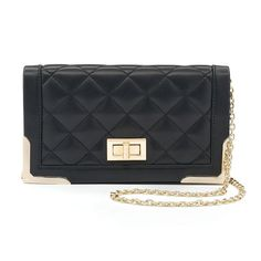 Lenore by La Regale Quilted Crossbody Bag, Women's,