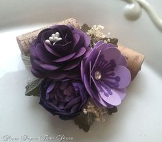 Corsages  Paper Flowers  Shabby Chic  by morepaperthanshoes, $10.00