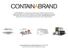 Personalise your very own shipping container! Perfect for product launches, brand activations or even just a party!