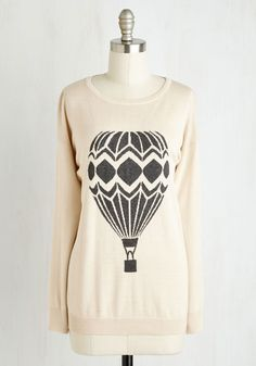 Sky and Mighty Sweater. Send your style soaring high with this pale beige sweater by Sugarhill Boutique! #cream #modcloth