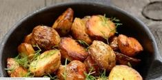 These roasted potatoes are simple, and easy to make. They create the perfect side dish for any holiday roast.This recipe is courtesy of Crock Pot Dump Meals. Crockpot Dump Recipes, Gf Recipes, Potato Recipes, Dump Meals, Roasted Potatoes, Potato Salad, Side Dishes, Good Food, Vegetables
