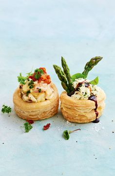 Vol Au Vent, Appetizers For Party, Appetizer Recipes, Vegan Catering, Easter Dishes, Spanish Tapas, Spanish Food, Savory Snacks, Gourmet Desserts