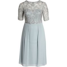Plus Size Women's Adrianna Papell Beaded Midi Dress (1,750 CNY) ❤ liked on Polyvore featuring plus size women's fashion, plus size clothing, plus size dresses, blue mist, plus size, blue midi dress, adrianna papell cocktail dresses, blue dress, plus size blue dress and womens plus dresses