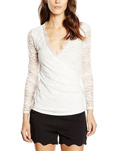 fa4215ddfed Lipsy Women's Lace Wrap Long Sleeve Blouse: Amazon.co.uk: Clothing. Nursing  TopsBreastfeeding ...