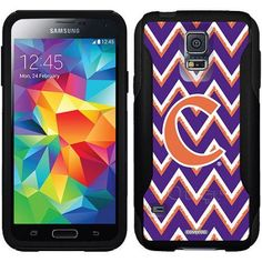 Clemson Emblem Sketchy Chevron Design on OtterBox Commuter Series Case for Samsung Galaxy S5