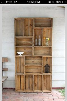 Pallet bookshelf! DIY too cute! Love this idea of using this outside.