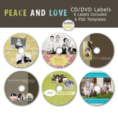 CdDvd Label Photoshop Templates  Eb  Instant Download