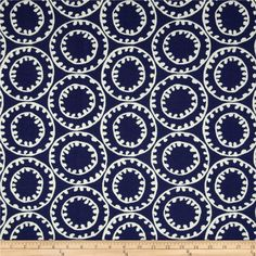 P. Kaufmann Indoor/Outdoor Ring A Bell Navy from @fabricdotcom  This great outdoor fabric is perfect for outdoor settings and indoors in sunny rooms. It is fade resistant up to 500 hours of direct sun exposure. Create decorative toss pillows, chair pads, tabletop and tote bags. To maintain the life of the fabric bring indoors when not in use. This fabric can easily be cleaned by wiping down or hand washing with warm water and a mild soap solution, simply rinse with clear water to prevent…