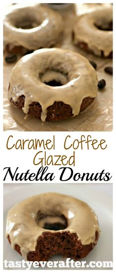 This is my dream donut!  Made with yummy Nutella, coffee, and extra chocolate