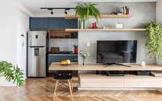 Arquitetos do Metamoorfose Studio privilegiam integração dos espaços #DecoraçãoApartamento