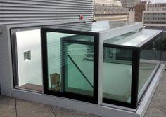 Slide opening box rooflight