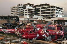 St. John's Regional Hospital, Joplin, MO helicopter and hospital ~ gone but not forgotten.