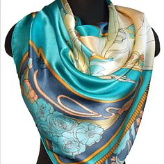 This beautiful shawl is based on Alfons Mucha's painting, called Feather. Alfons Maria Mucha is a famous Czech artist, who lived from 1860 to 1939.