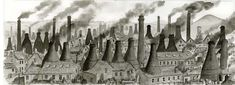 Sid Meir - Paintings of Stoke-on-Trent Pottery Painting, Pottery Art, Stoke On Trent, The Past, Illustration Art, England, Skyline, Ceramics, Writers