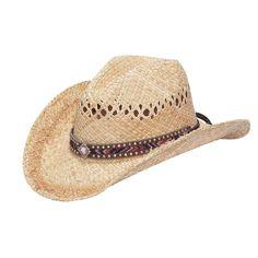 70cc9daff84 Blazin Roxx Ladies Raffia Chevron Ribbn Inlay Fashion Straw Hat Womens Western  Hats