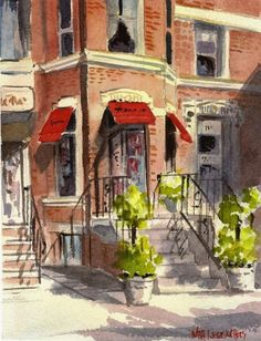 watercolor storefront