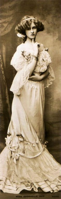 Gabrielle Ray - 1900s - English stage actress, dancer and singer - La Belle Epoque