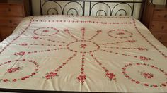 Indian Hand Embroidered Bedcover / Bedsheet By IndianCottage