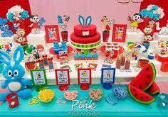 Blog Encontrando Ideias Malu, Candy Shop, Alice, Party Time, Birthdays, Pink, Birthday Cake, Valentino, Creative