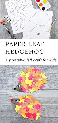 This cute paper leaf hedgehog craft is perfect for fall! Kids of all ages will e… This cute paper leaf hedgehog craft is perfect for fall! Kids of all ages will enjoy using the printable hedgehog template at home or school. Such a fun autumn idea! Kids Crafts, Winter Crafts For Kids, Easy Crafts, Art For Kids, Autumn Crafts Preschool, Home Craft Ideas, Autumn Art Ideas For Kids, Fall Crafts For Toddlers, Autumn Activities For Kids