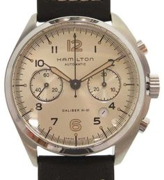 Buy new watches and certified pre-owned watches in excellent condition at Truefacet. Shop Rolex, Hublot, Patek & more luxury watch brands, authentication guaran Cool Watches, Watches For Men, Hamilton Watch Company, Hamilton Khaki Pilot, Luxury Watch Brands, Pre Owned Watches, Automatic Watch, Vintage Watches, Omega Watch