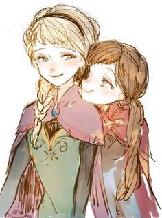 Anna and Elsa - Frozen