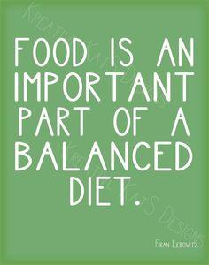 balanced diet words