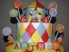 Circus Cake  Bolo Circo  Gateau Cirque