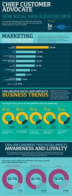 Chief Customer Advocate - How Social Data Elevates CMOs #Infographic