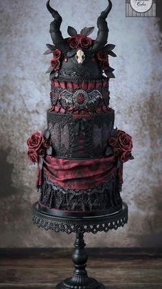 Halloween Torte, Bolo Halloween, Halloween Cake Pops, Halloween Desserts, Creepy Halloween, Halloween Ideas, Halloween Weddings, Happy Halloween, Halloween Wedding Dresses