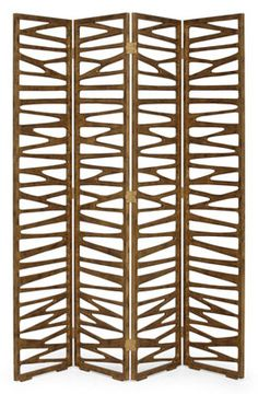Fabulous pierced screen design, carved from solid mahogany ready to receive your choice of sleek finishes.