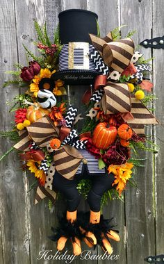 Fall Turkey Wreath by Holiday Baubles Fall Mesh Wreaths, Halloween Mesh Wreaths, Diy Fall Wreath, Halloween Porch, Holiday Wreaths, Wreath Ideas, Door Wreaths, Holiday Decor, Thanksgiving Wreaths