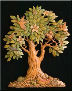 """Eppure sono convinto che riuscirei a farlo! """"Tree of Life"""" Woodcarving by Stanley Rill"""
