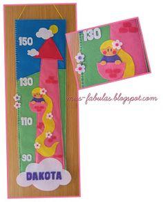Medidor Rapunzel hecho a mano en fieltro - Rapunzel kids meter Handmade Felt