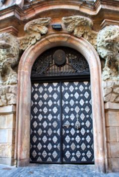 one of the many gorgeous doors in Prague