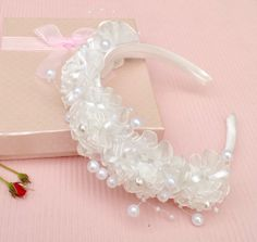 White Lace Flower Girl HeadbandLace Flower & by FantasyNight, $15.00